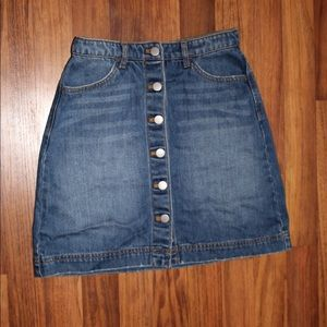 Button up jean skirt from H&M size 4